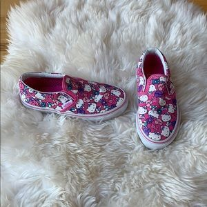 Hello Kitty Vans, size 11.5 little girl